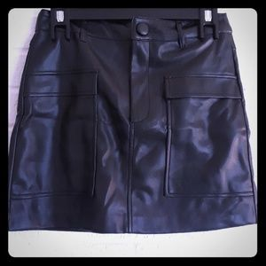 Zara faux leather black skirt size small